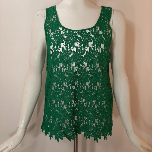 3/$18 Forever 21 Top Green Lace Tank