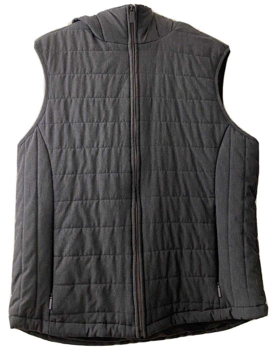 Perry Ellis Hoodie Vest - Grey - Large