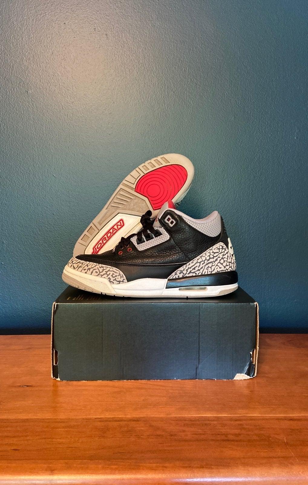 "Nike Air Jordan 3 ""Black Cement"" Size 6"