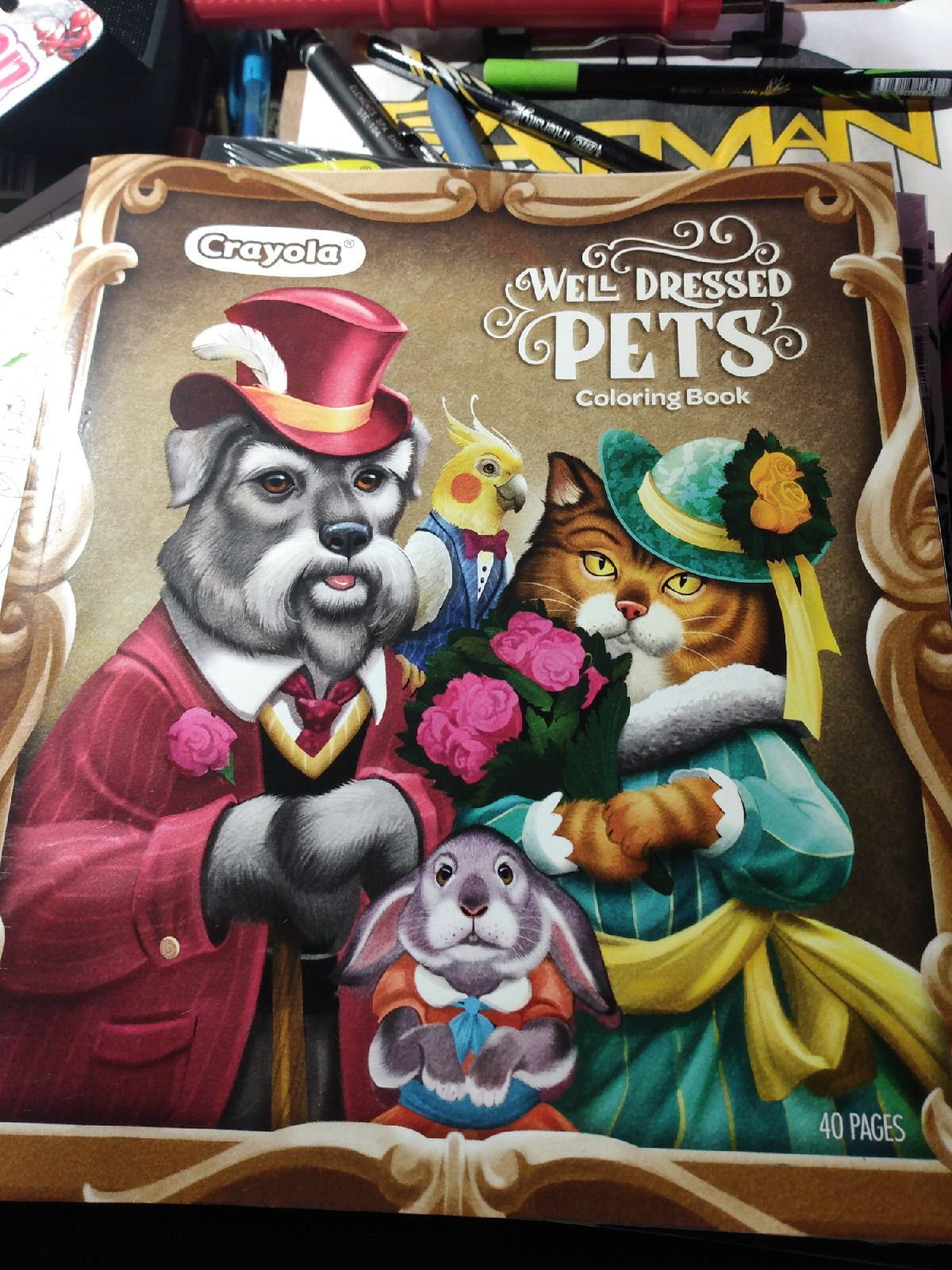 Well Dressed Pets Adult Coloring Book