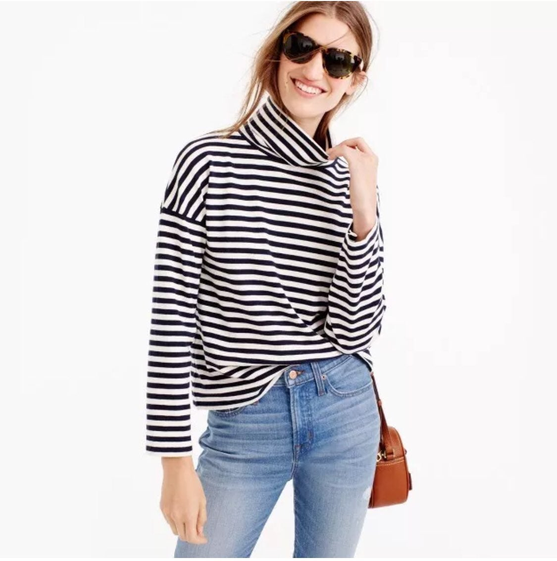 Jcrew Oversized striped turtleneck