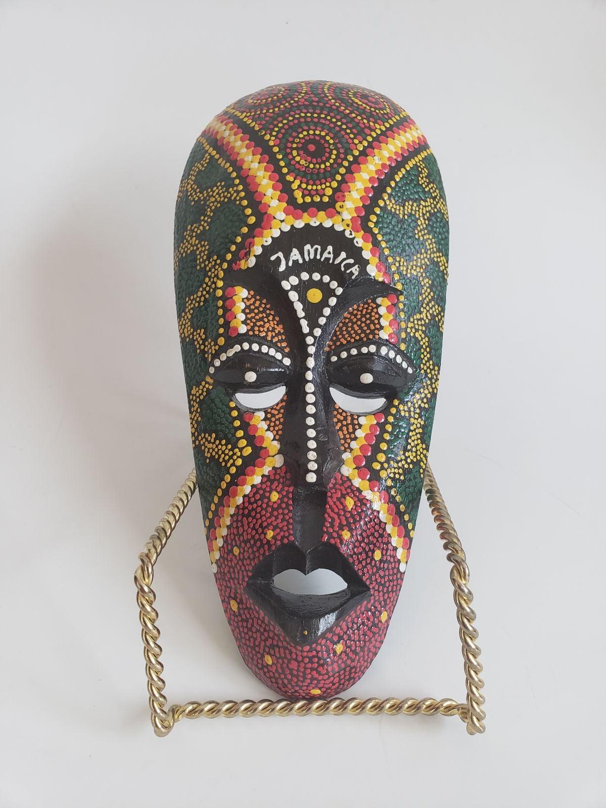 Jamaica wooden folk art  tribal mask