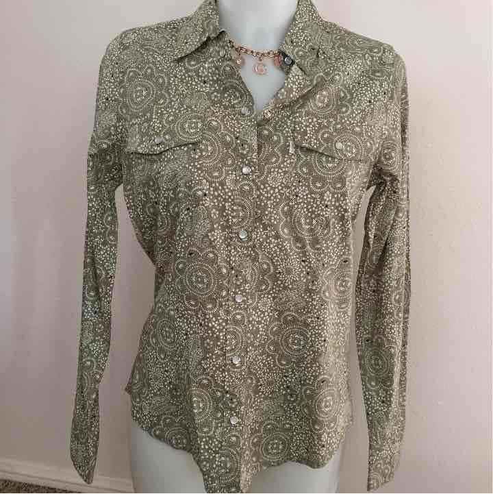 Levis womens western indie boho blouse