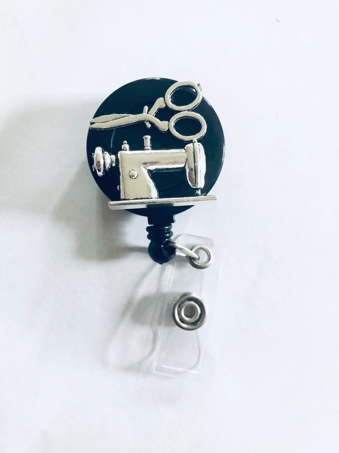 Sowing Machine Retractable Badge