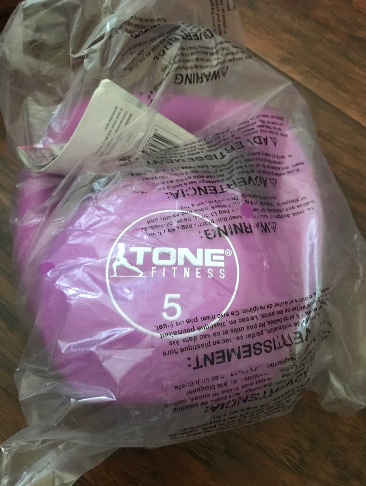 Pink tone fitness kettlebell