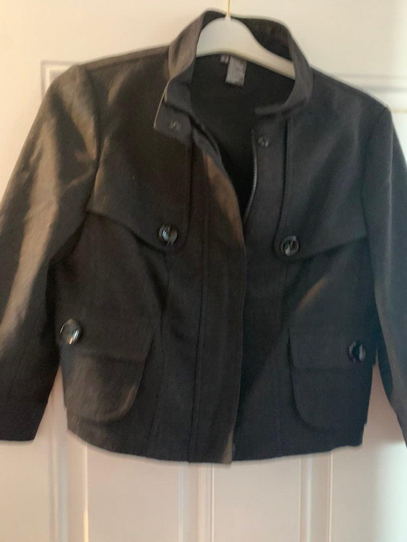 Per Se Wool/Cashmere Black Jacket Size 8