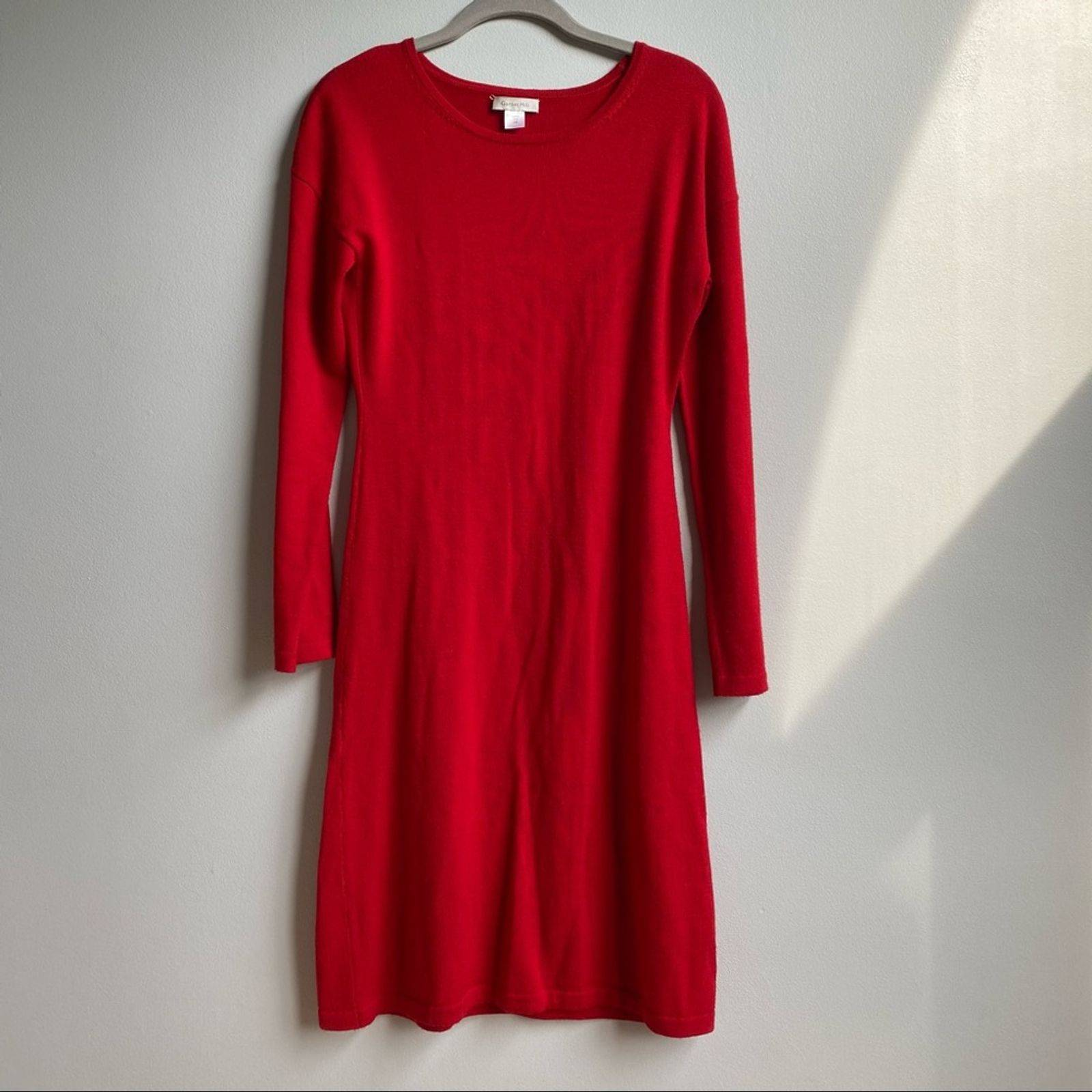 Garnet Hill 100% Wool Midi Sweater Dress