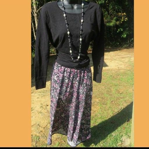 Casual corner floral swing skirt sz 2x