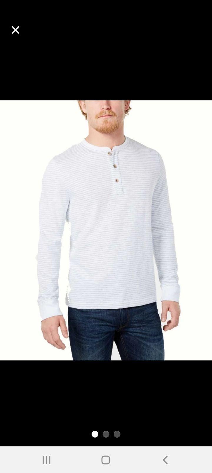 Club Room long-sleeve Henley shirt
