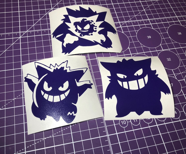 3 Pack of Pokemon Gengar Decal Sticker