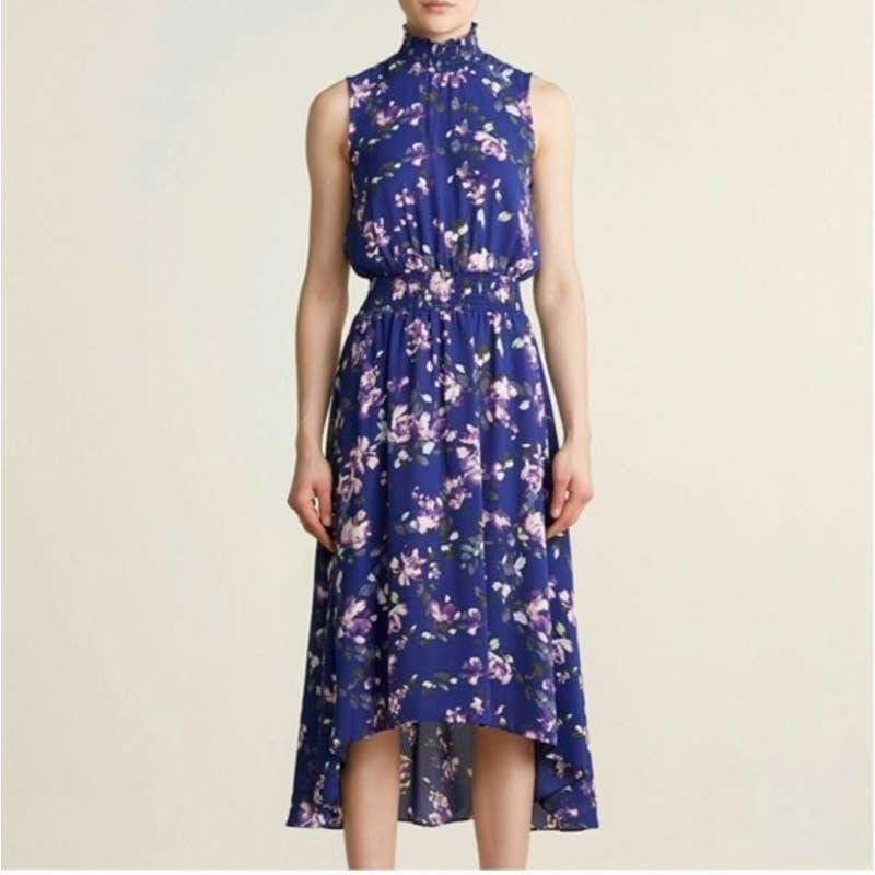 NANETTE LEPORE Navy High Low Dress