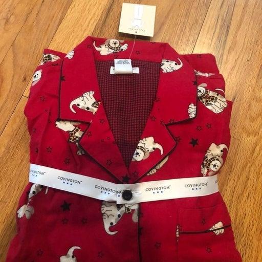 Dog Print Pajama Petite L 14-16