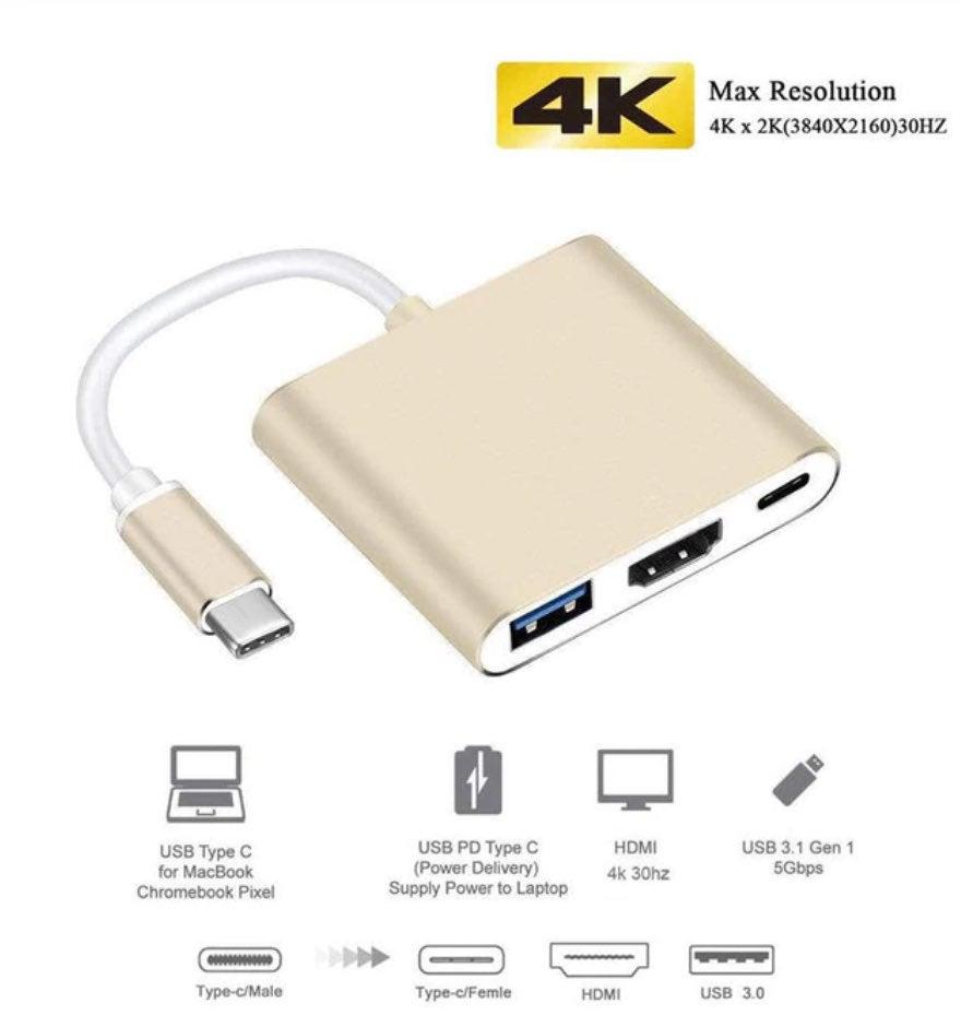 Uosible Thunderbolt 3 Adapter USB Type C