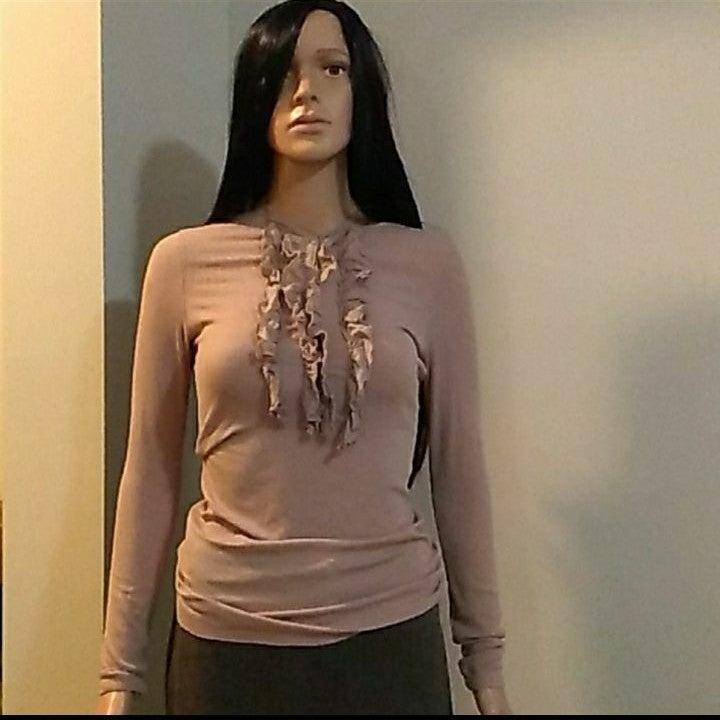 Ruffled blouse Size Small (6)