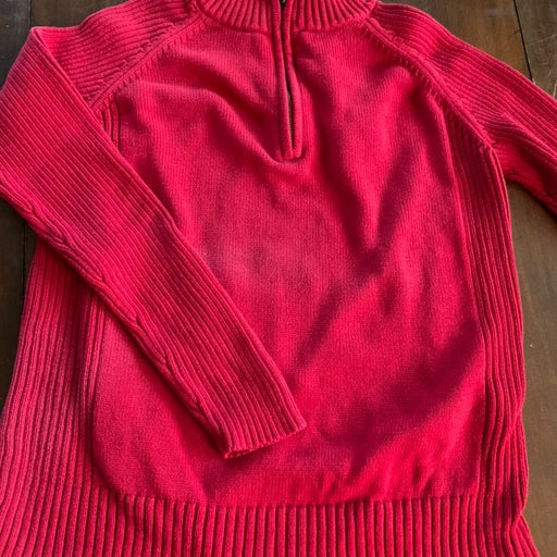 Sweater mens med red pullover 1.4 zip