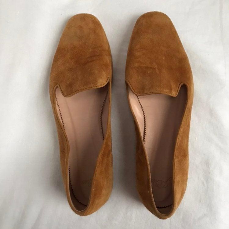 J. Crew Suede Loafers Honey Beige 9.5