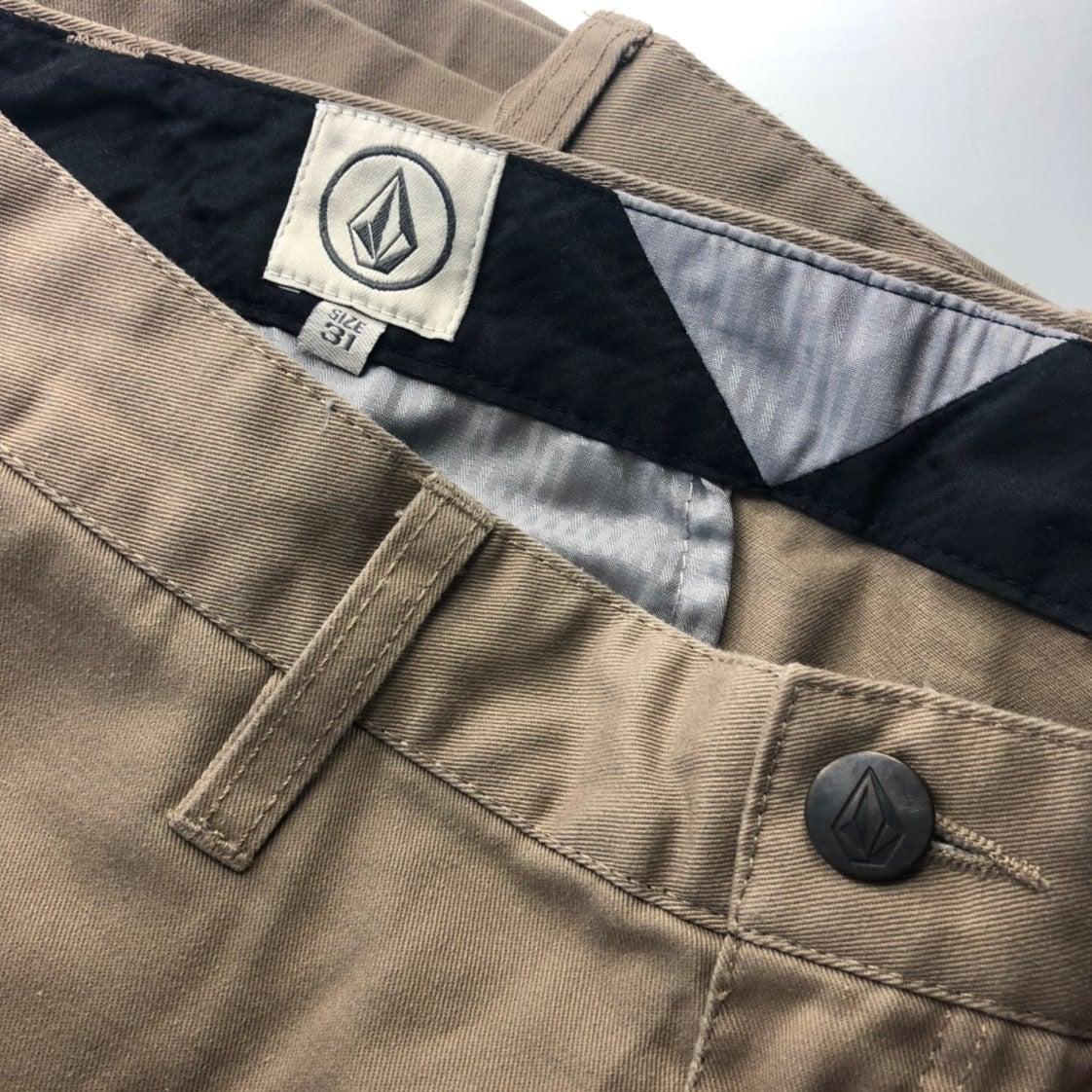 Men's Volcom light khaki shorts