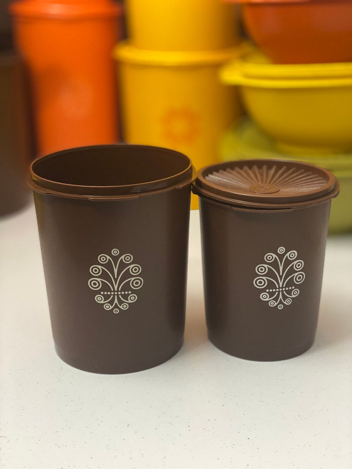 Vintage Tupperware Servalier Canisters