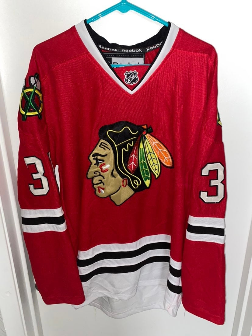 Vintage Chicago Blackhawks #31 Niemi Red
