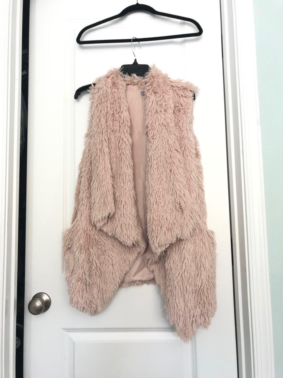 Faux Fur Draped Vest