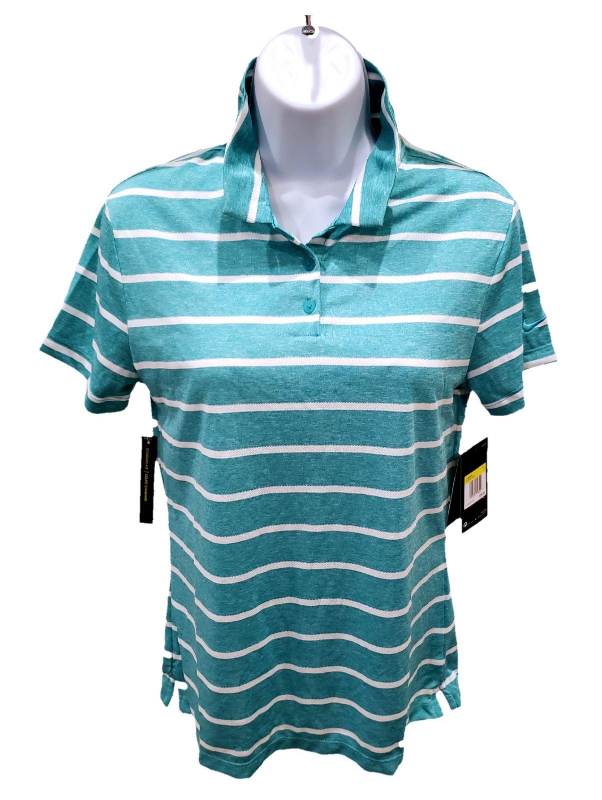 NWT $55 NIKE Dry Fit Womens Polo T Shirt