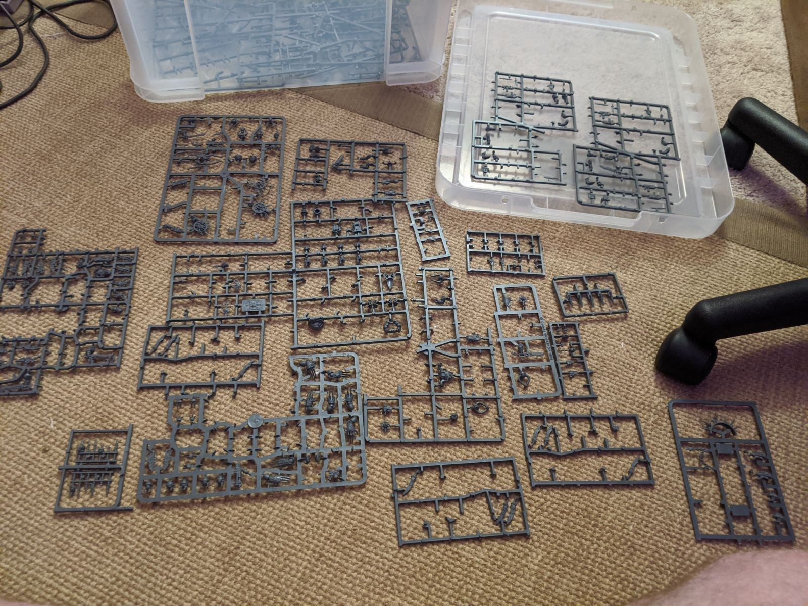 Warhammer 40k incomplete chaos sprues