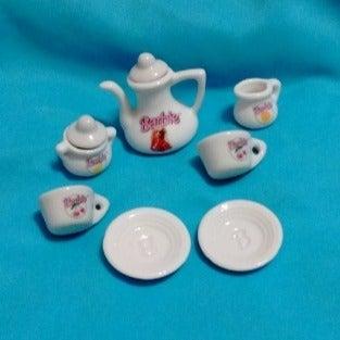 miniature barbie tea set