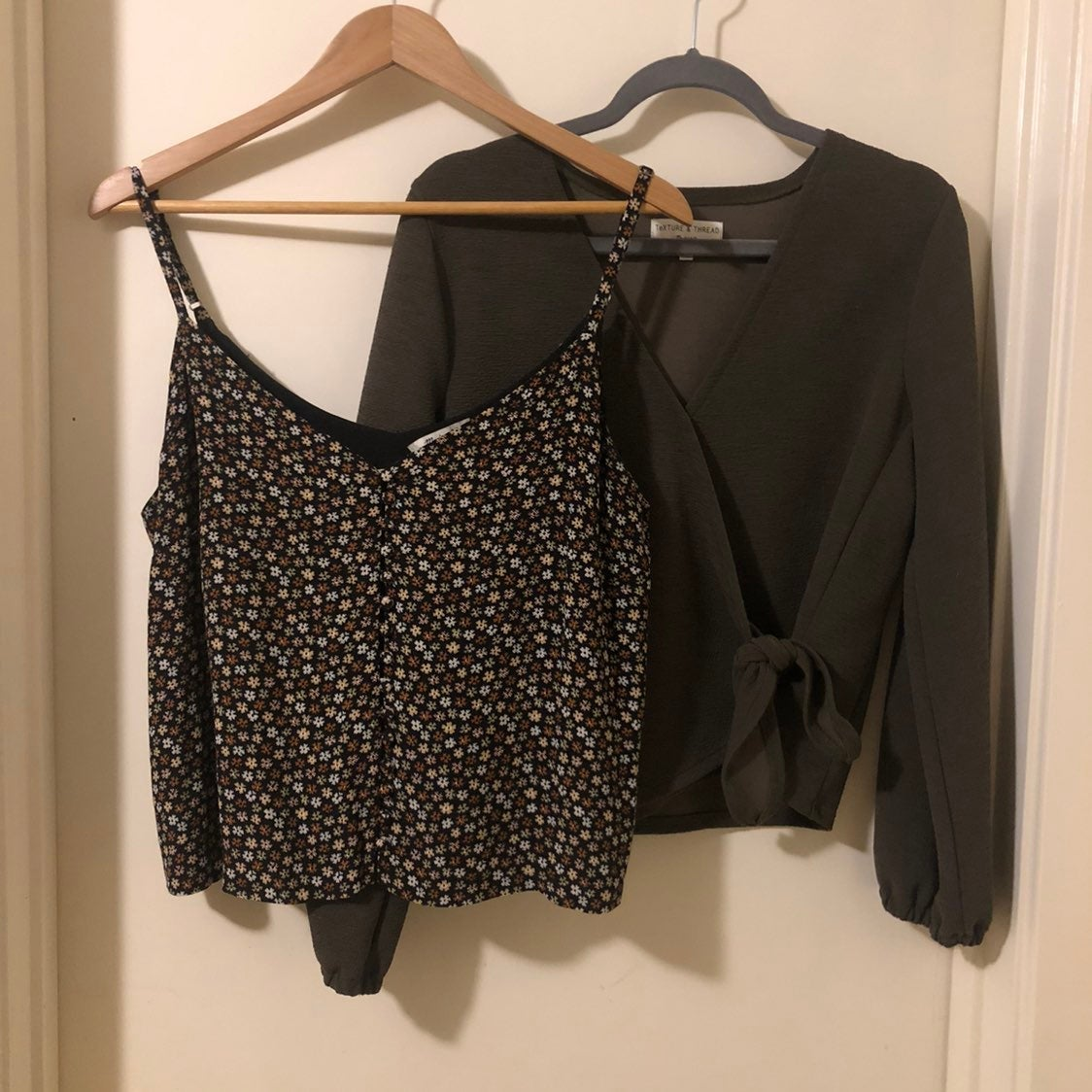Madewell floral tank wrap blouse bundle