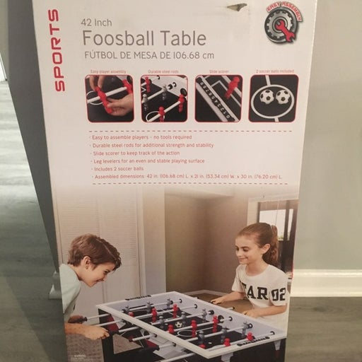Foosball table 42 inch brand new