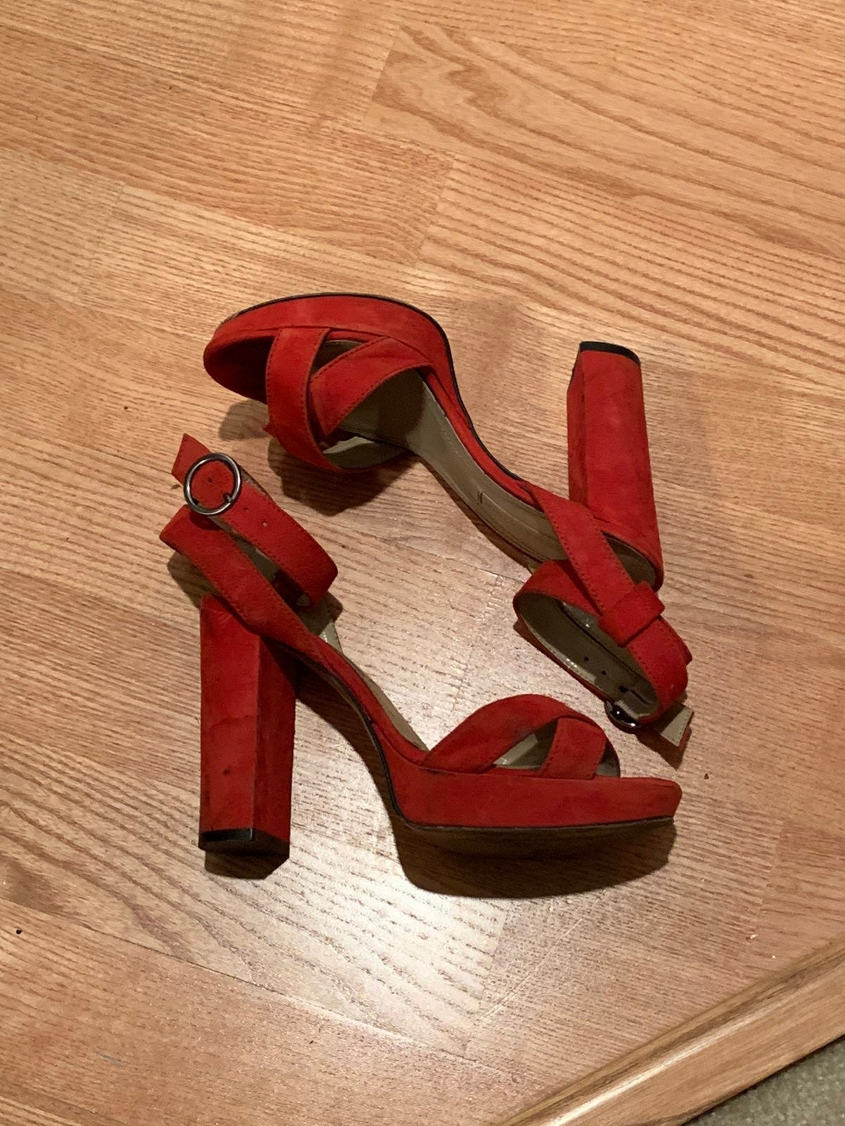 Gently used Red BCBGMAXAZRIA Heels - 6M
