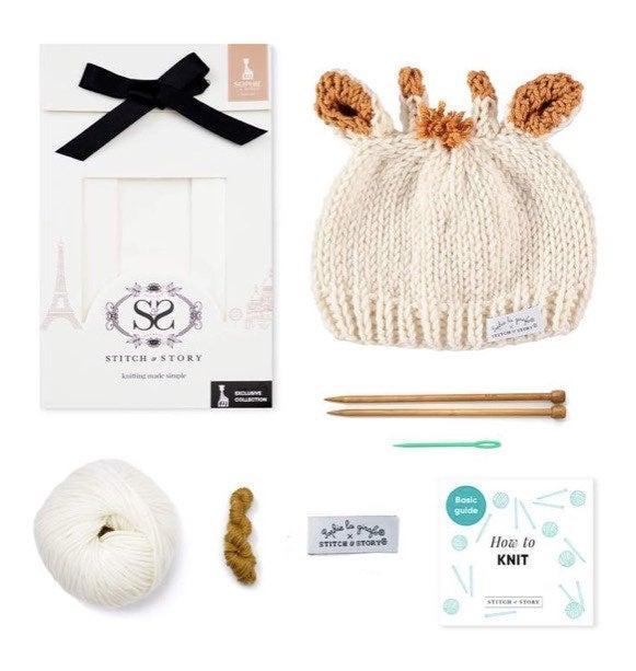 Sophie The Giraffe Hat Knitting Kit