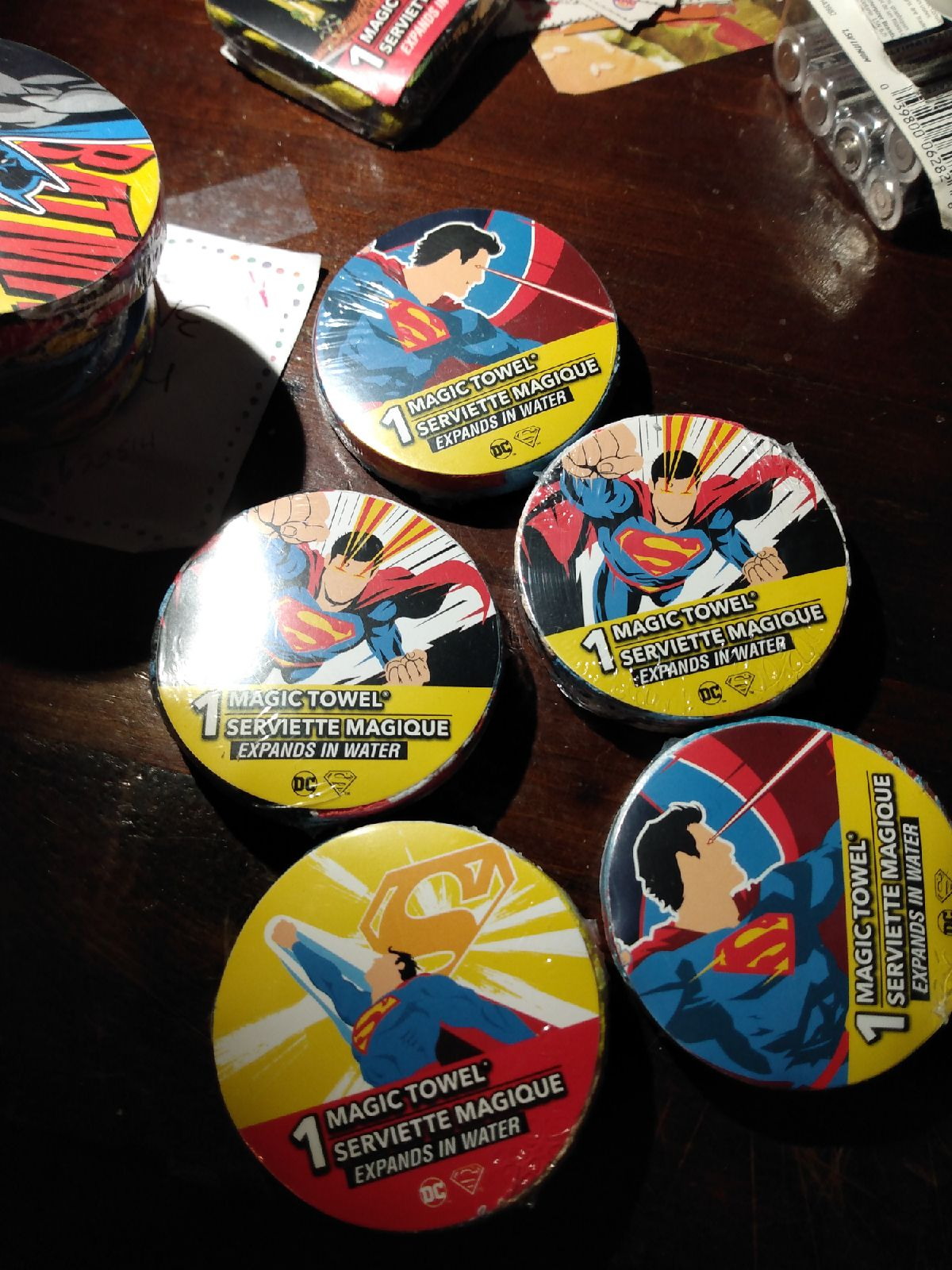 DC Superman Washcloths New Bundle