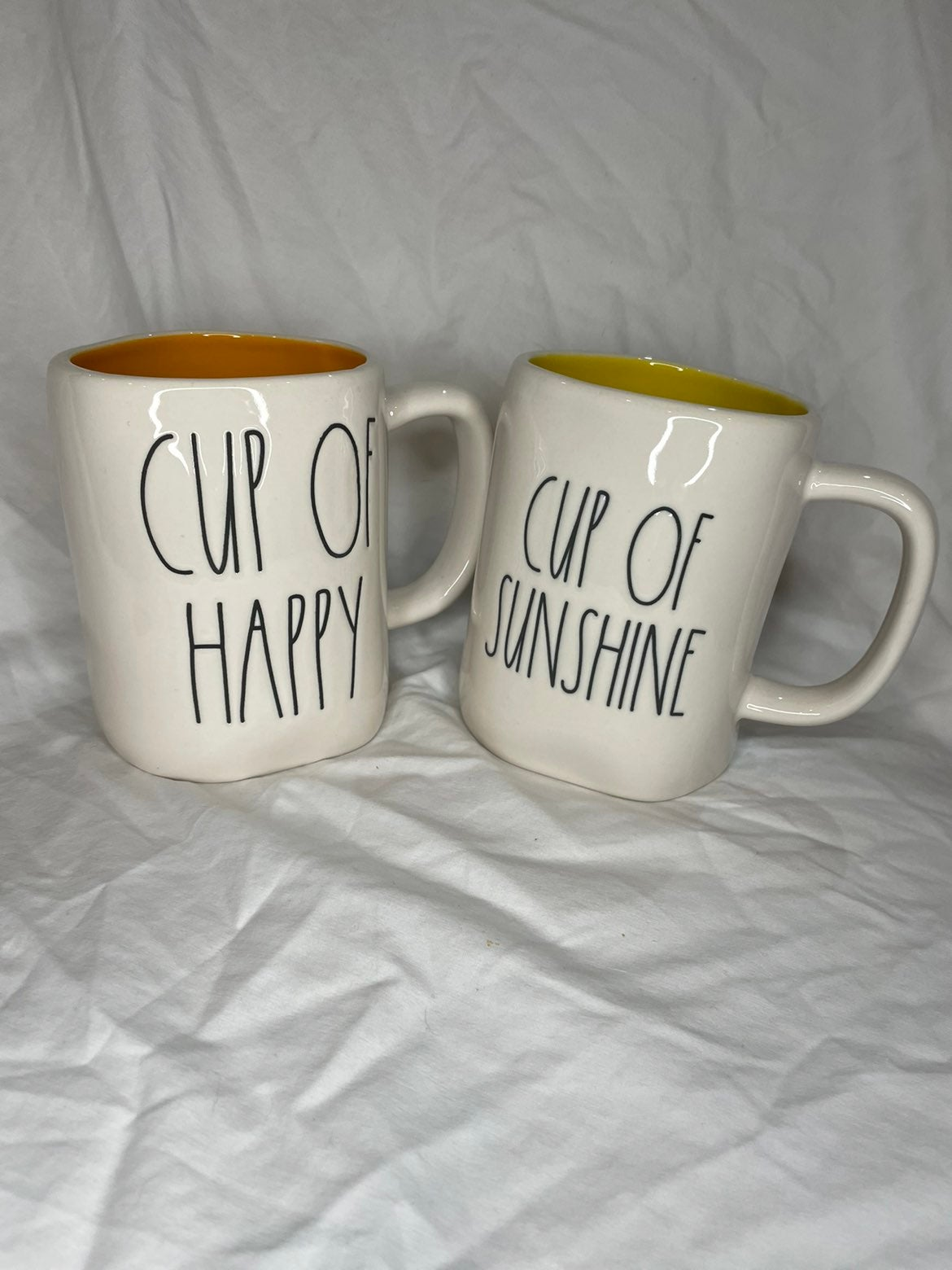 Rae Dunn CUP OF SUNSHINE & CUP OF HAPPY