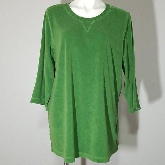 Denim & Co Green Terry Shirt