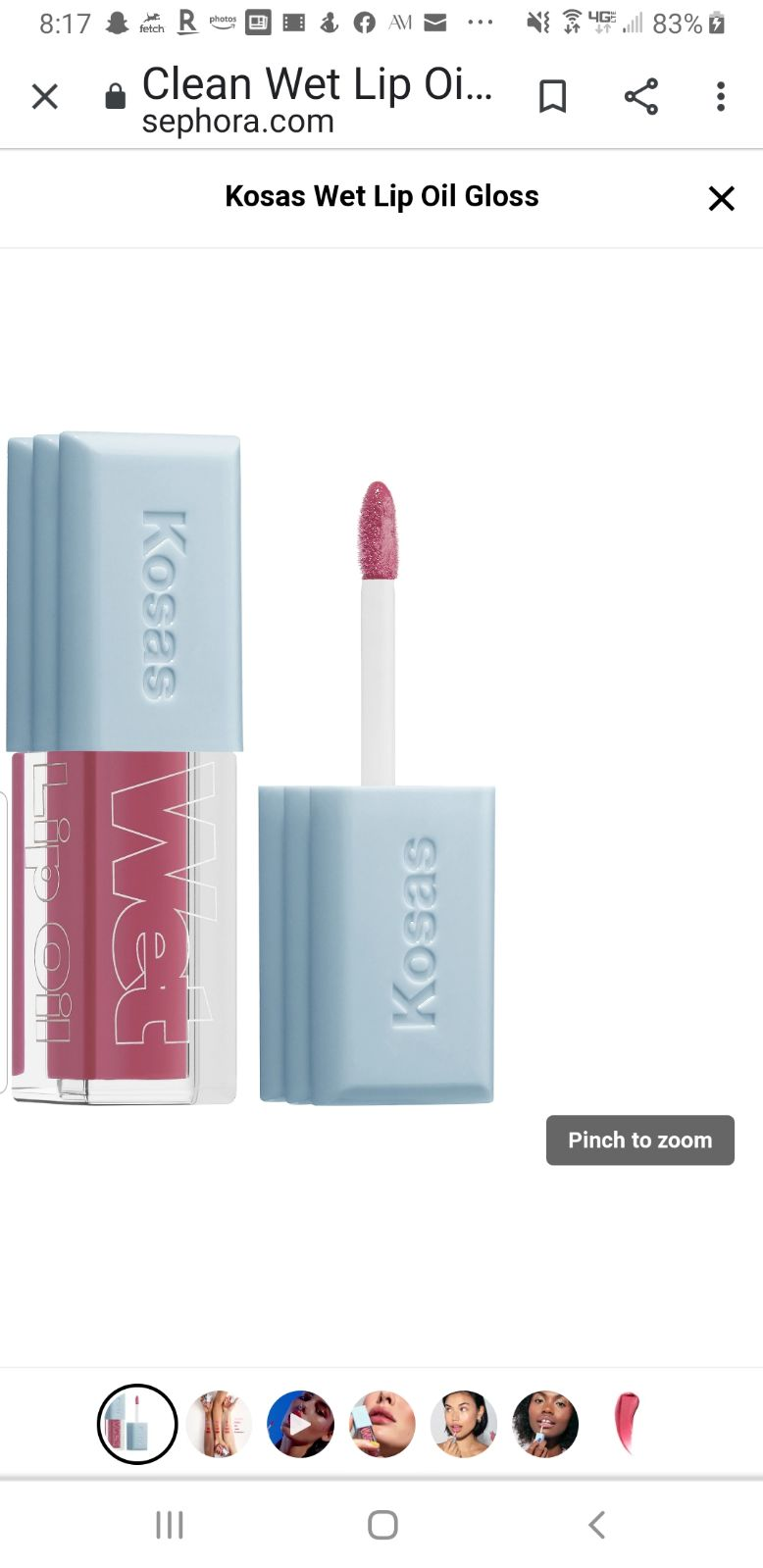 Kosas Kosas Wet Lip Oil Gloss in Malibu
