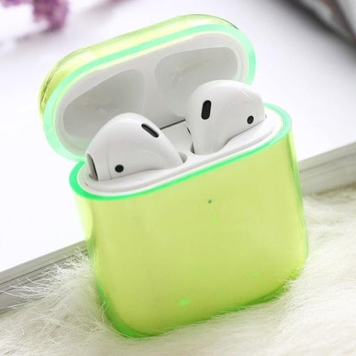 neon green clear airpods 1/ 2 case cover