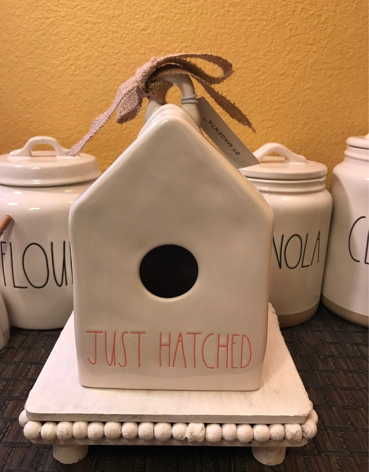 Rae Dunn Just Hatched birdhouse