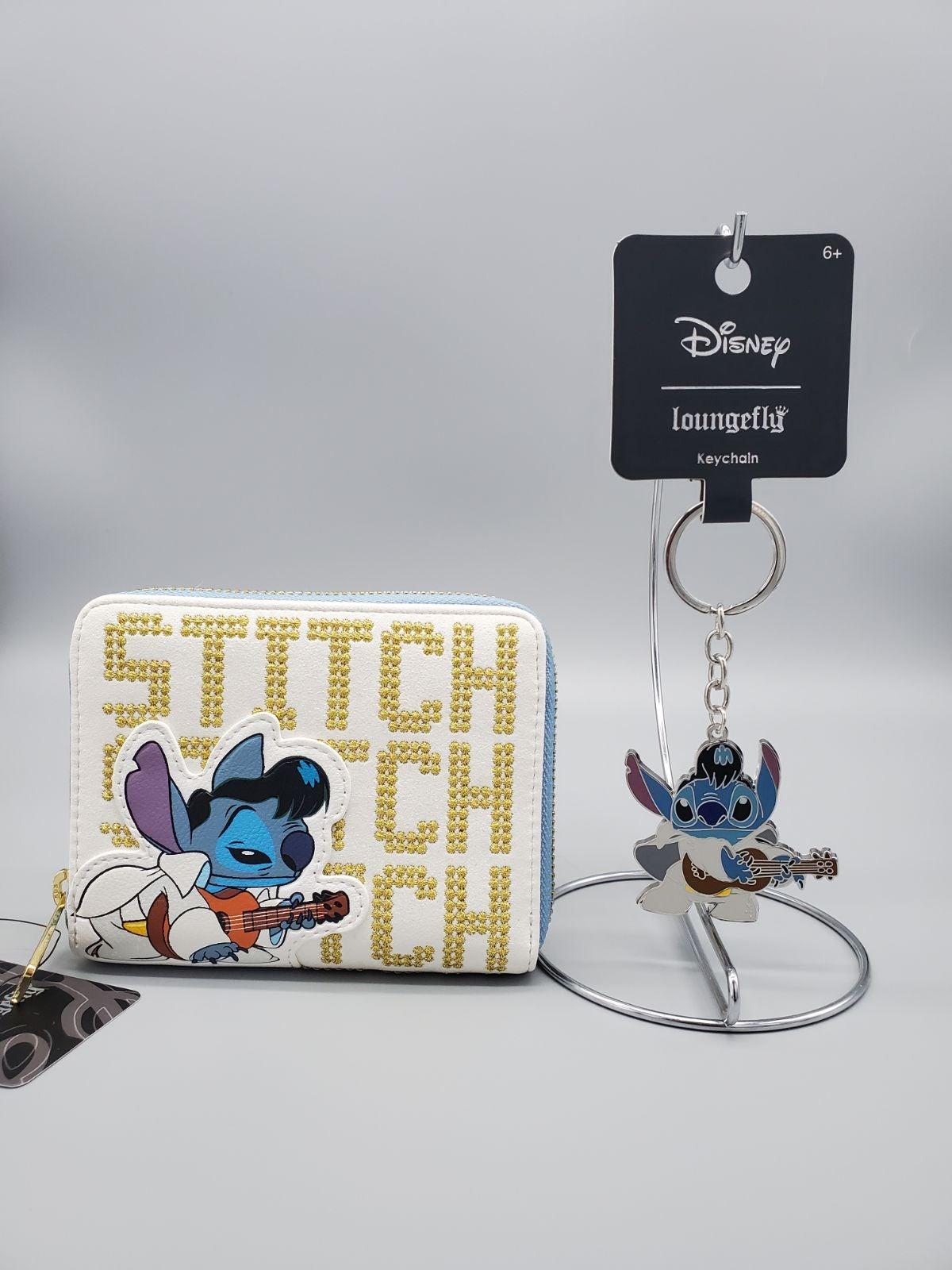 Loungefly Elvis Stitch Wallet & Keychain