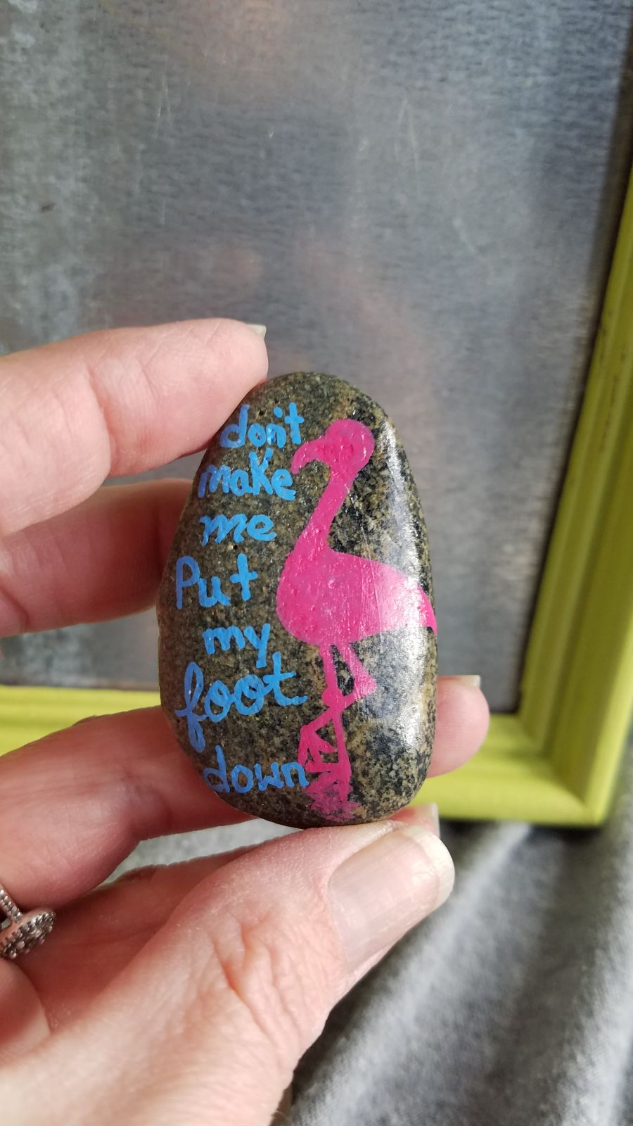 magnets hand painted stone funny
