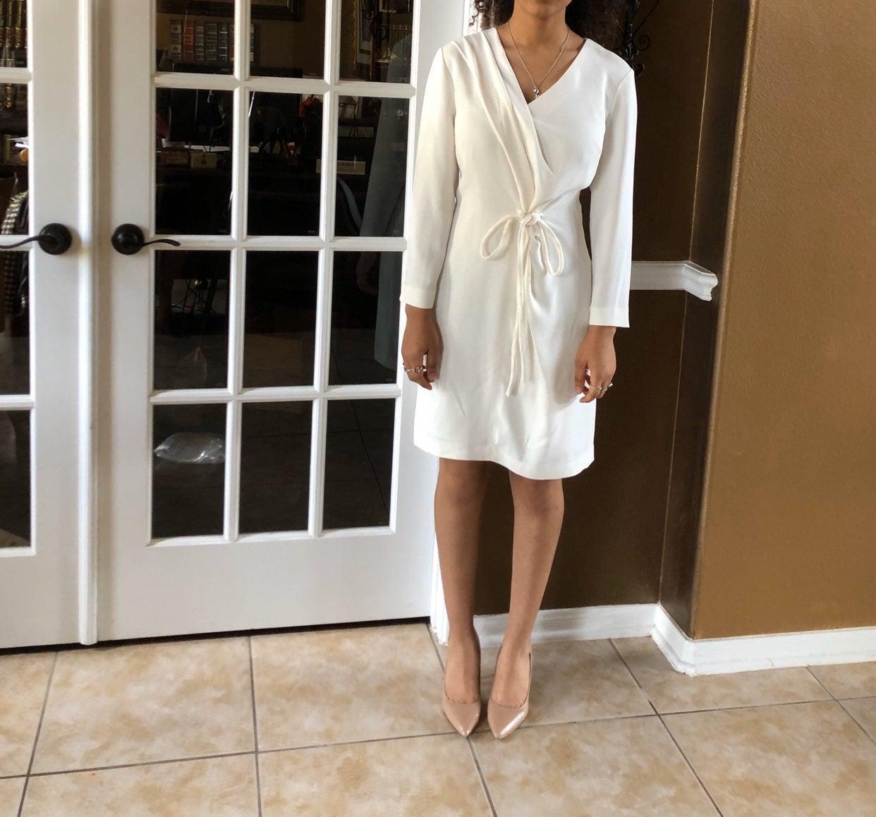 NWT! Armani Exchange Elegant White Dress