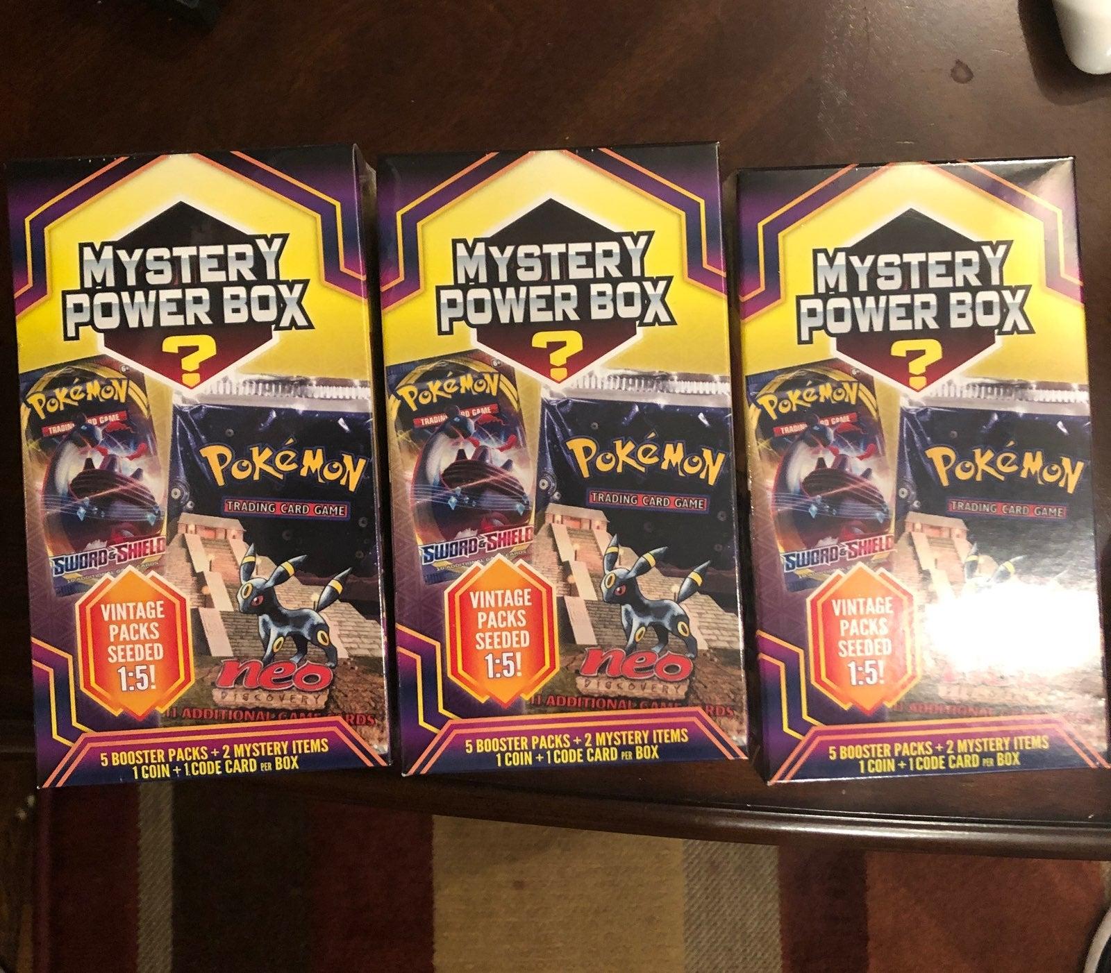 Three (3) Mystery Pokemon Power Boxes