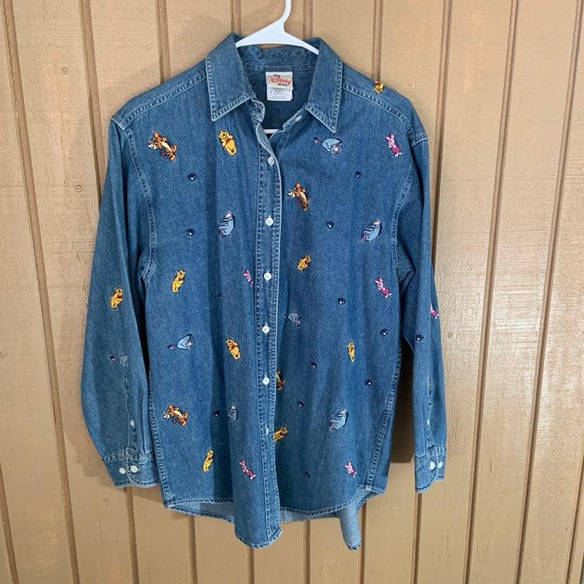 Vintage Disney Winnie Denim Shirt M
