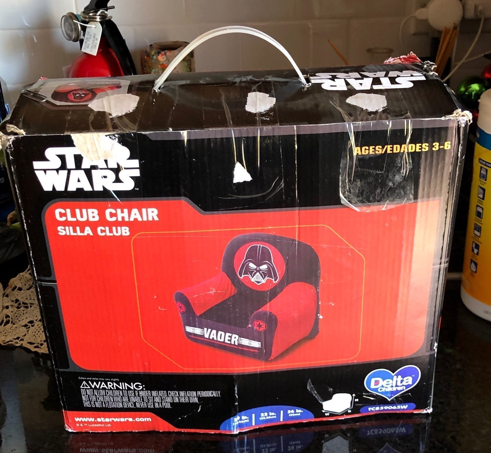 Star Wars Vader club chair