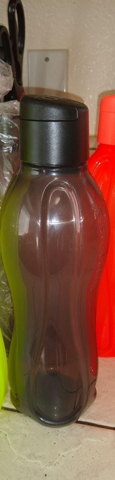 Sheer Black Medium Eco Water Bottle by T