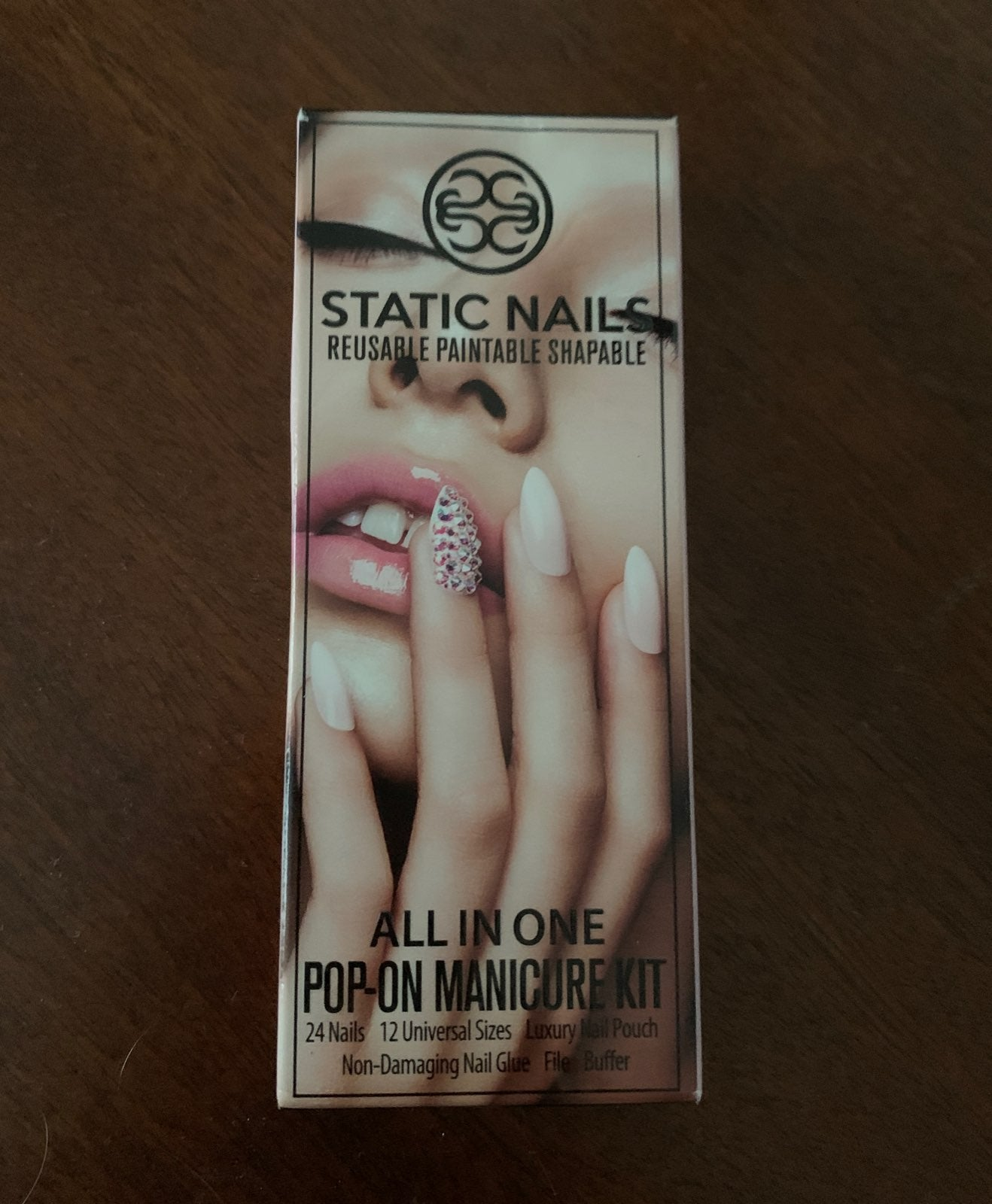 Static Nails w/ Swarovski Crystals