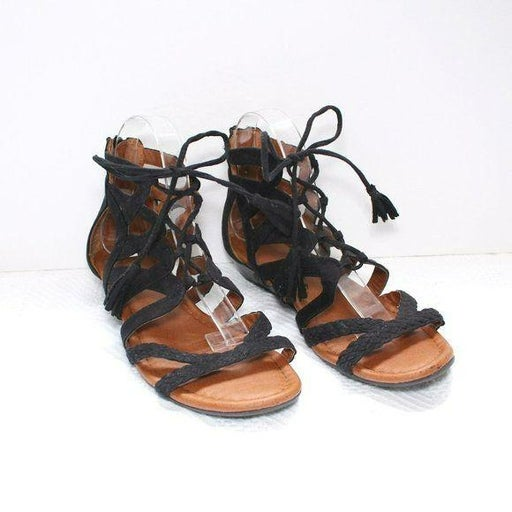 Sonoma Black Salinda Women's Wedge Sandals Sz 8