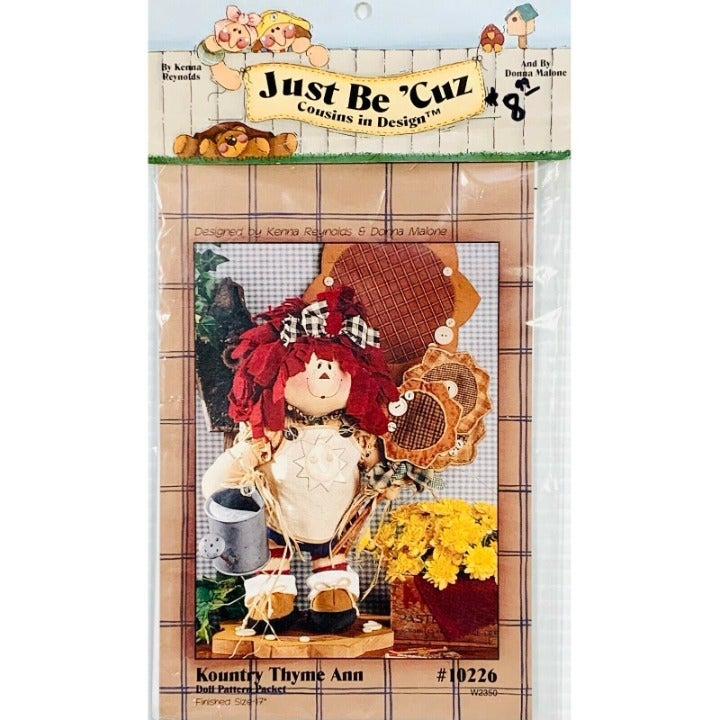 Raggedy Ann Doll Pattern, Kountry Thyme Ann by Kenna Reynolds for Just Be Cuz