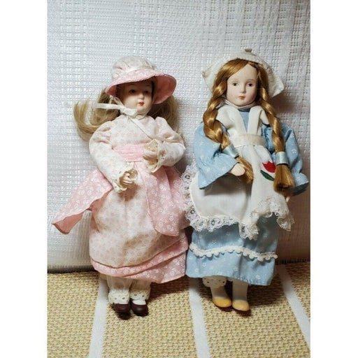 2 Vintage Russ Berrie Porcelain Dolls