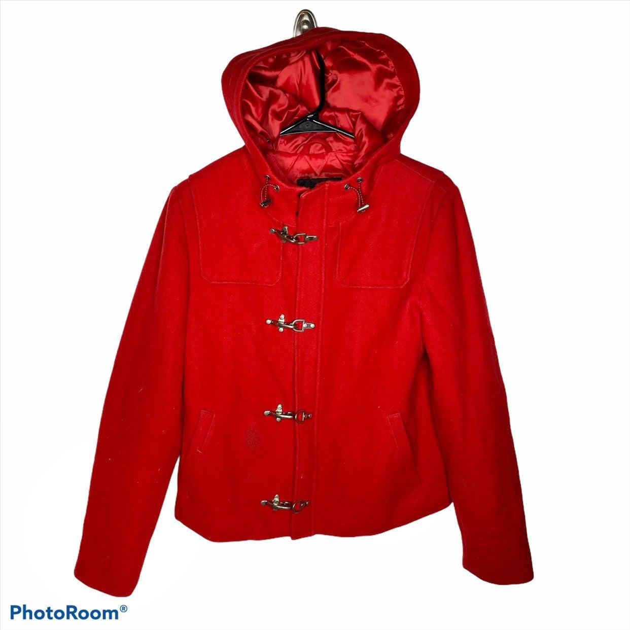 Ralph Lauren wool blemd red coat Jacket