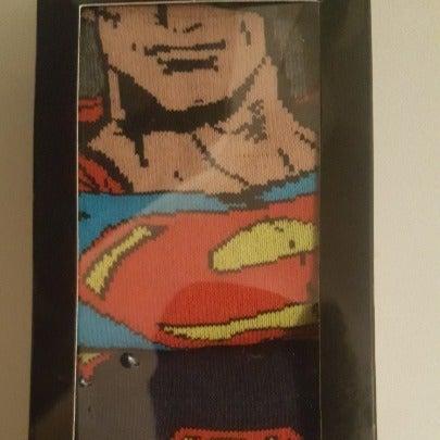 SUPERMAN Men's 2 Pair Pack Crew Sock NIB